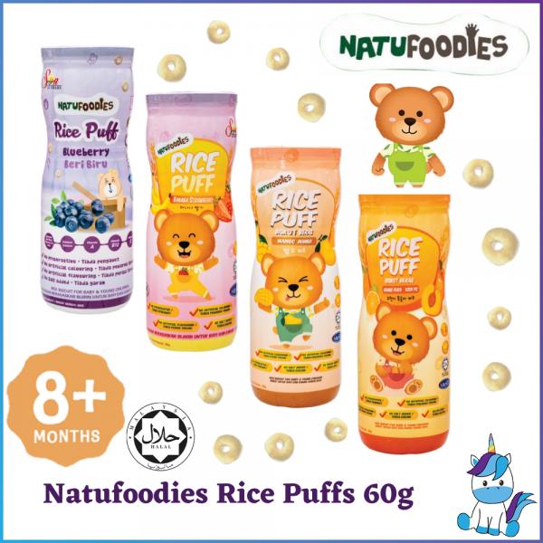Halal Natufoodies Rice Puff (60g) - Blueberry / Orange Peach / Strawberry Banana / Mango