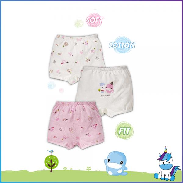 Kuku Duckbill Girl Panty Brief / Underwear (3 pcs)