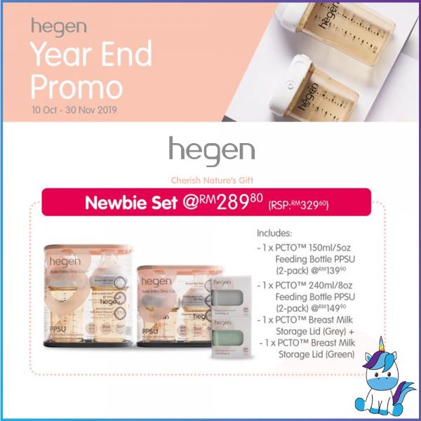Hegen PCTO Newbie Set Promotion - 150ml+240ml+Lids