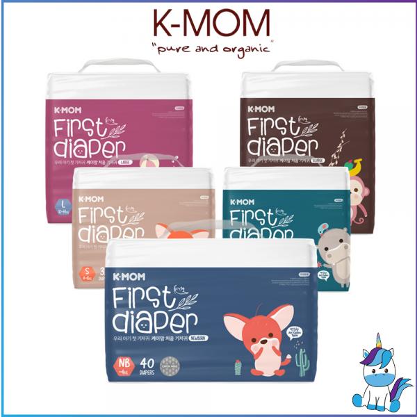 K-MOM First Diaper Size New Born, S, M, L, XL - Tape