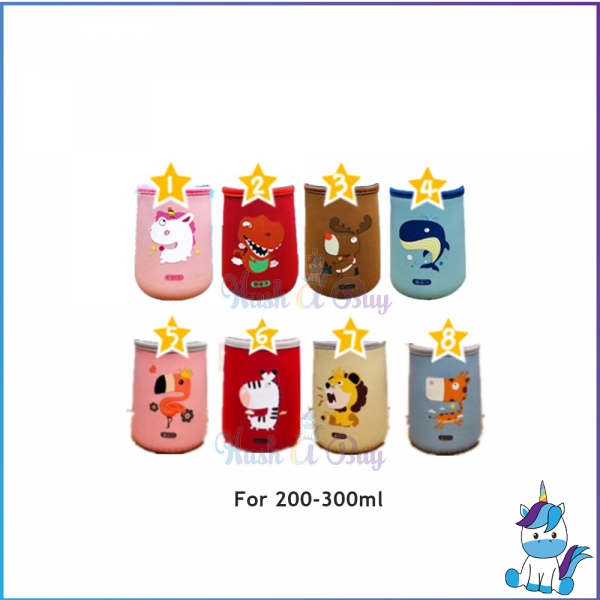 Flask  Tumbler Pouch For Thermos, Zojirushi, Zebra, Face, Izalo, with Strap for 200-300ml