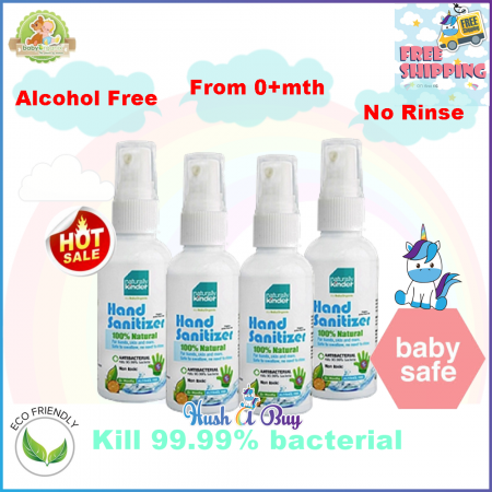 BabyOrganix Natural Kinder Hand Sanitizer 30ml or Sanitizing Water 400ml