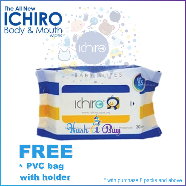 Ichiro Face and Mouth Wet Wipes / Wet Tissue / Hand - 30 Sheet (EXP: MAR 2021)