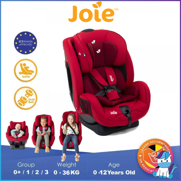 JOIE Stages Convertible Child Safety Seat for Group 0+/1/2 (Newborn - 25KG) Cherry/Navy Blazer