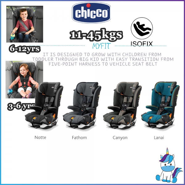【CHICCO TRADE IN PROGRAM】 Chicco MyFit Harness + Booster Car Seat Combination Car Seat - ISOFIX (11kg-45kg) 3-12 years