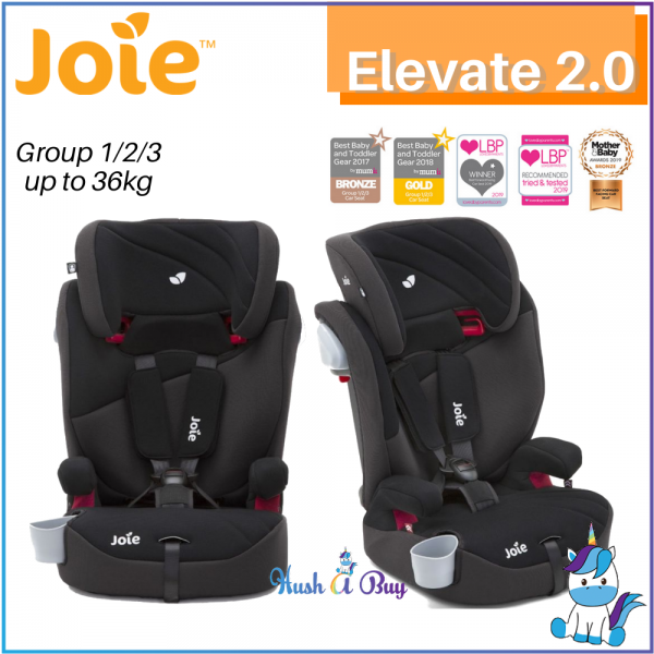 Joie Elevate Booster Car Seat / Elevate 2.0 (Deluxe Padded) - Group 1/2/3 (9-36kg)