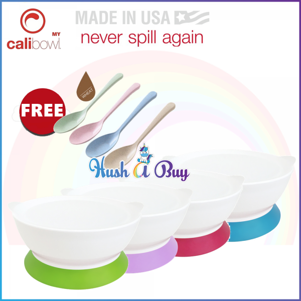 CaliBowl 12oz Non-Spill Suction Bowl with Lid