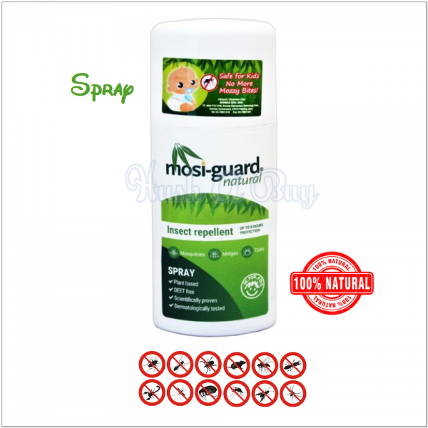Mosiguard Insect / Moisquitos Repellent Natural 75ml - Spray / Roll On - Fight Dengue & Zika Virus