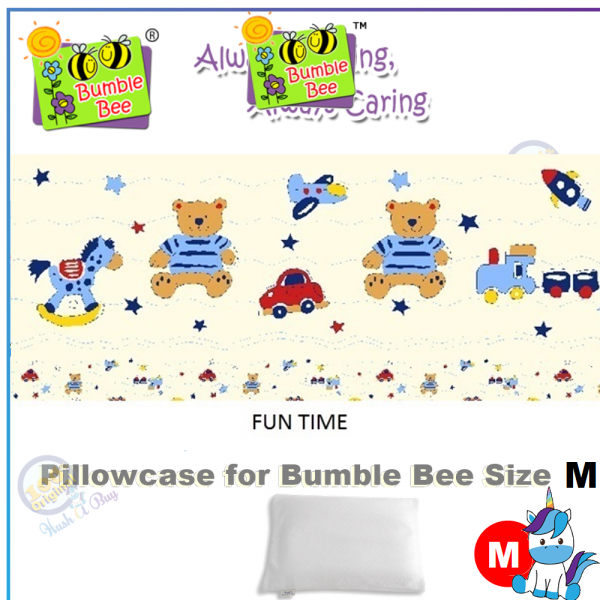 """Bumble Bee Pillow Size M (12""""x 16"""")"""