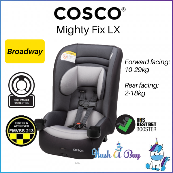 Cosco Convertible Car Seat MightyFit LX Extended Rear Facing up to 25kg (2.3kg-30kg) - Broadway