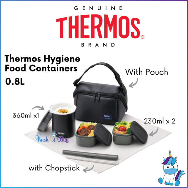 Thermos DBQ Series Hygiene Food Container With Chopstick and Pouch 800ml / 1000ml