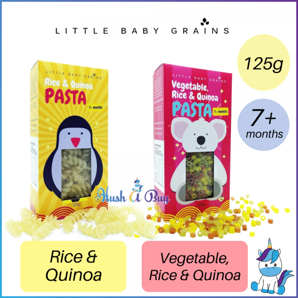 (Gluten Free/For Vegan) Little Baby Grains Pasta 125g ( Rice & Quinoa // Vegetable, Rice & Quinoa ) For 7+M - Made in Bolivia