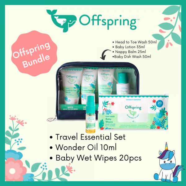 Offspring Travel Pack + Wonderoil FREE Offspring Wet Tissue 20pcs