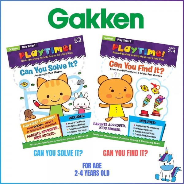 Gakken Play Smart: Playtime Brain-Boosting Activity Books for Little Kids (Ages 2-4)