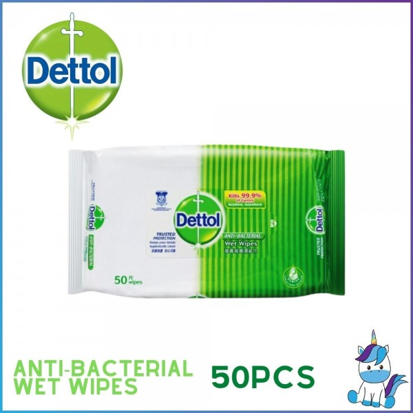 Dettol Anti-Bacterial Wet Wipes 10s / 50s