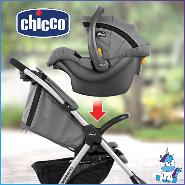 [FREE SHIPPING] Chicco Mini Bravo Plus Travel System (Stroller + Carrier)