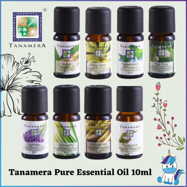 Tanamera Pure Essential Oil 10ml - Aromatherapy - Ginger/Ylang Ylang/Peppermint/Tea Tree/Lavender/Citronella/Lemongrass/Eucalyptus