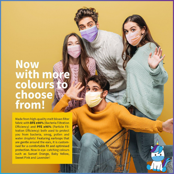 Neutrovis Color/Premium Medical Face Mask - Earloop / Headloop 50pcs
