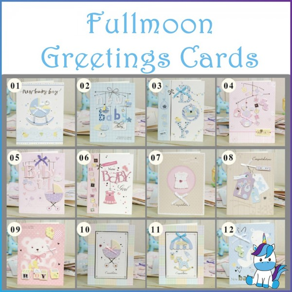 Baby Korean Creative Stereo Ribbon Fullmoon Wishing Greeting Card & Gift Wrapping Service
