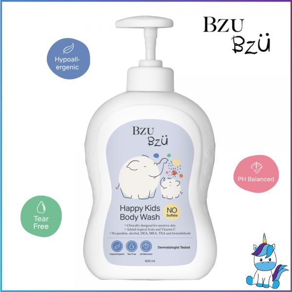 BZU BZU Happy Kids Body Wash 200ml - Product of Singapore Made in Malaysia