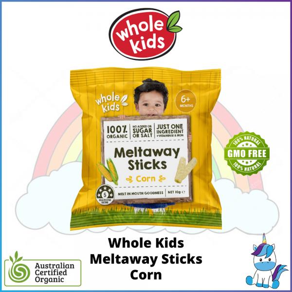 Whole Kids Meltaway Sticks (10g) - Corn - ACO Certified Organic - Made in Australia