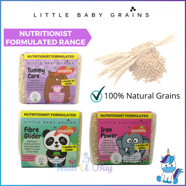 Nutritionist Formulated Little Baby Grains 520g (6+months onwards) - Sensitive Tummy/Pre-term Baby/Eczema Baby/Constipation