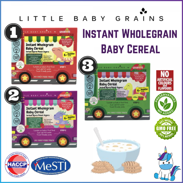 Little Baby Grains Instant Wholegrain Baby Cereal 15g x 15 sachets - Step 1/2/3 [Product of Malaysia]