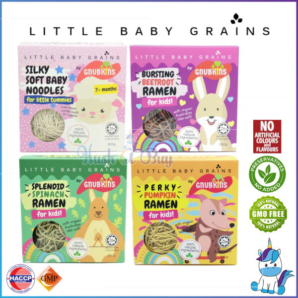 HALAL - Little Baby Grains Baby Noodles 200g / Ramen 250g [Product of Malaysia]