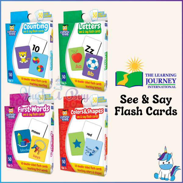 The Learning Journey International Clever Kids - See & Say Flash Cards [Suitable for 3 Years and Above]