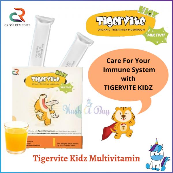 Tigervite Kidz Multivitamin Organic Tiger Milk Mushroom (3 sachets / 1 box) (Age 1+) Vitamins / Supplements - PRODUCT OF MALAYSIA
