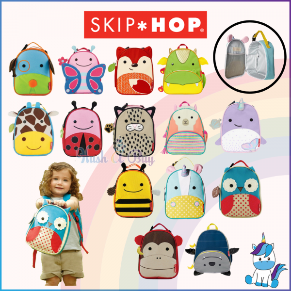 Skip Hop Zoo Lunchies Insulated Lunch Bag - Cute Lunch Box Bag - Kids Bag (3Y+) - Keep Warm and Cold - Back To School