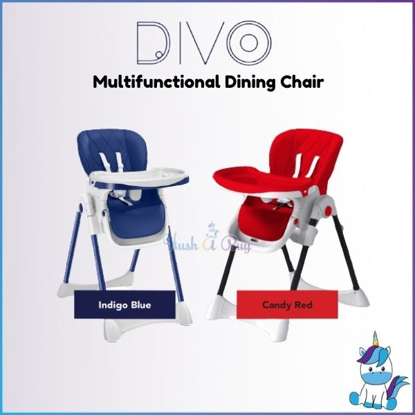 DIVO Multi-functional Dining Chair (Navy/Red) 6+M