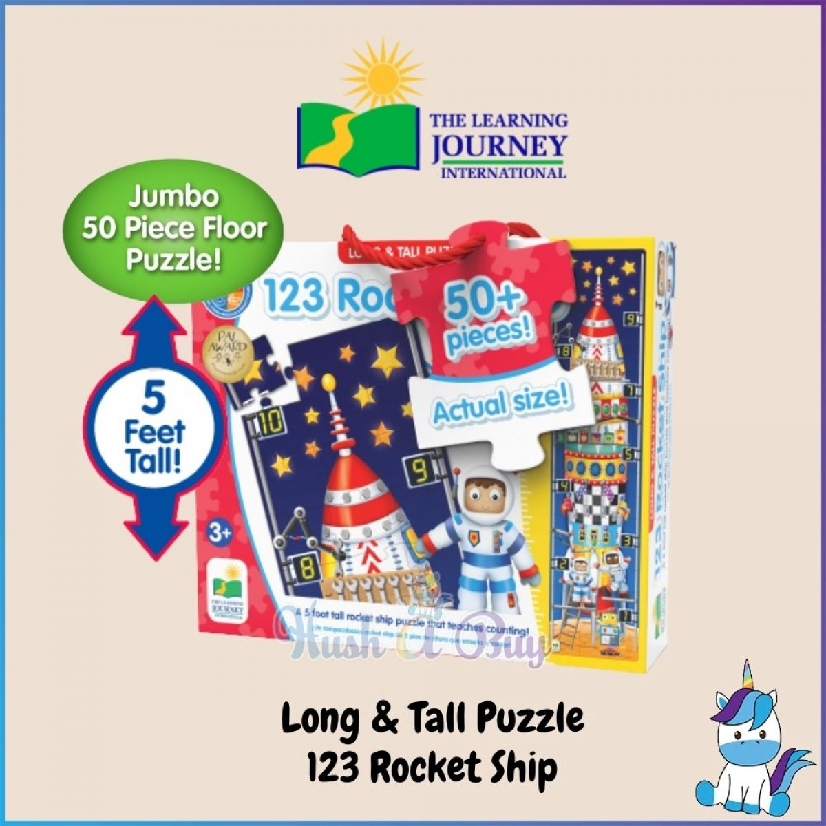 The Learning Journey International JUMBO FLOOR PUZZLE/PUZZLE DOUBLES/LONG & TALL PUZZLE