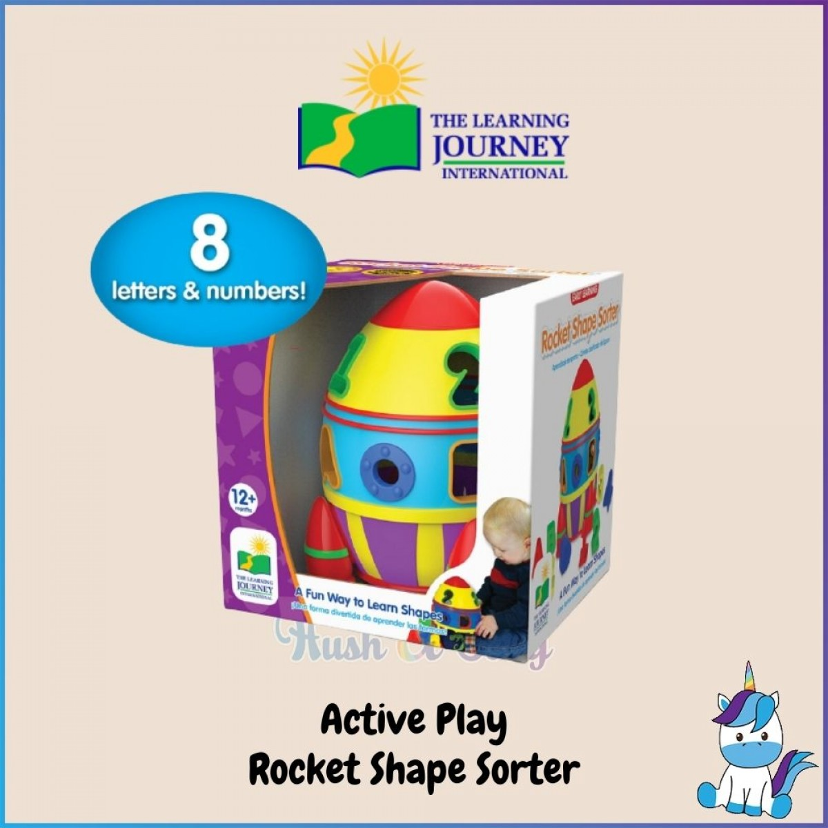 The Learning Journey International ACTIVE PLAY - Shape Sorter & Shopping Cart