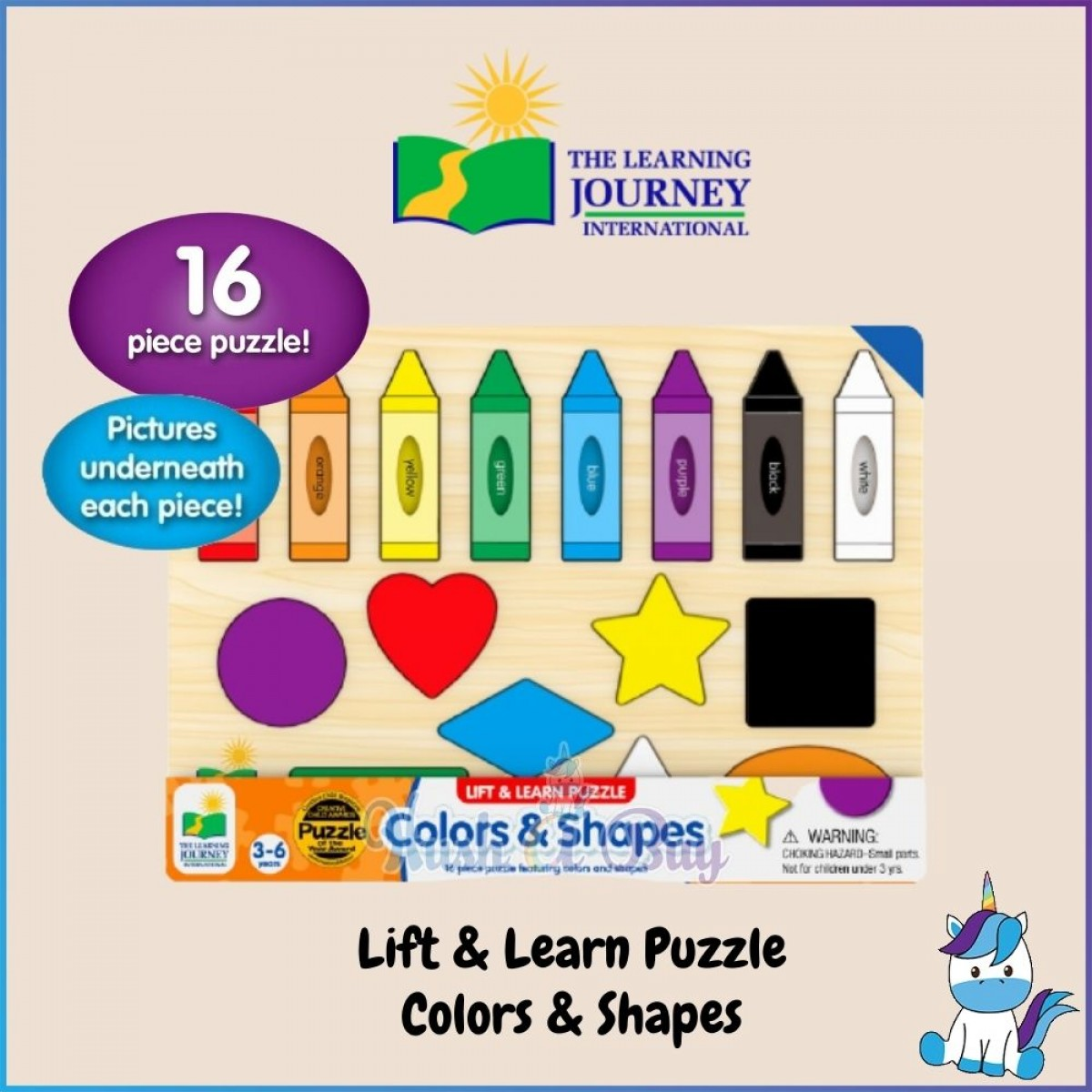 The Learning Journey Internation Puzzle Play - Lift & Learn Color Web/Clock/Color & Shapes