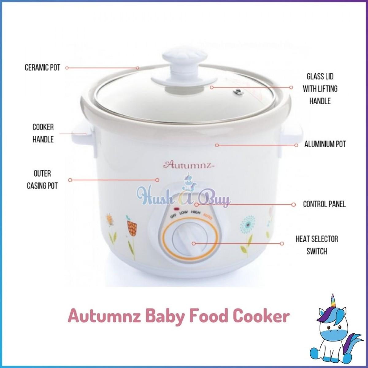 Autumnz Ceramic Baby Food Cooker / Slow Cooker 1.2L (BEST BUY)