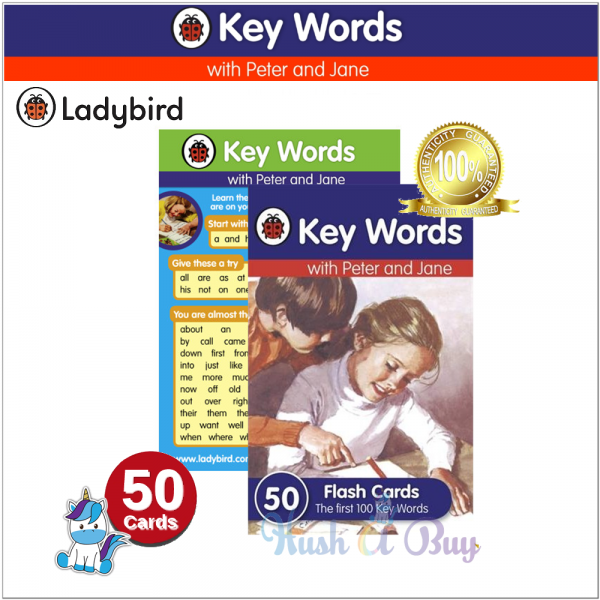 Ladybird Key Words Flash Cards with Peter and Jane (100 Key Words)
