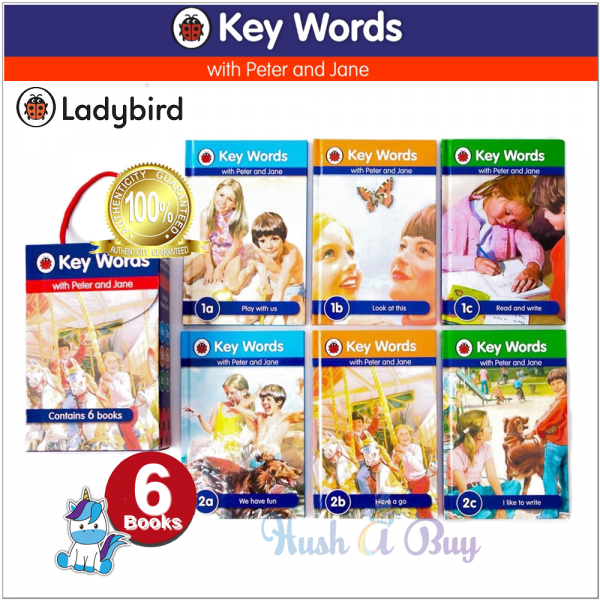 Ladybird Key Words with Peter and Jane Box Set (First 6 Books)