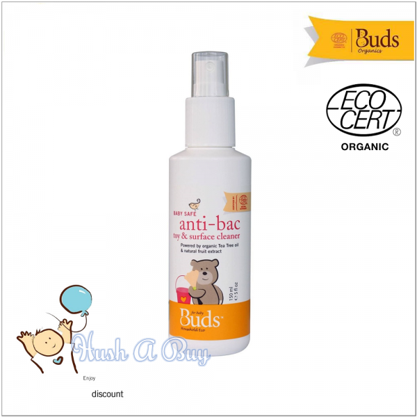 Buds BHE Baby Safe Anti-bacteria Toy & Surface Cleaner 150ml ( Expiry : October / 2021 )