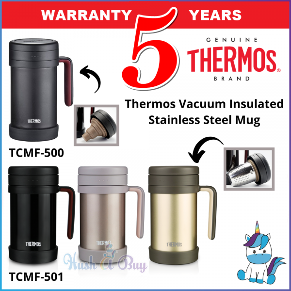 Thermos TCMF Series Outdoor Mug with Rubber / Stainless Steel Strainer 500ml - Keep Warm and Cold