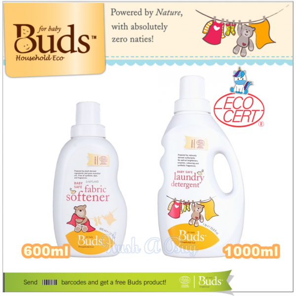Buds BHE Baby Safe Laundry Detergent or Fabric Softner