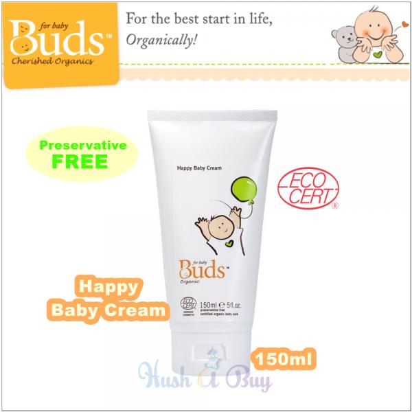 Buds Cherish Organics Happy Baby Cream 150ml ( Expiry : October / 2021 )