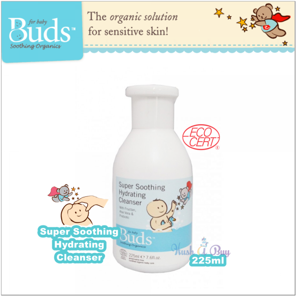 Buds Soothing Organic Super Soothing Hydrating Cleanser 225ml/425ml