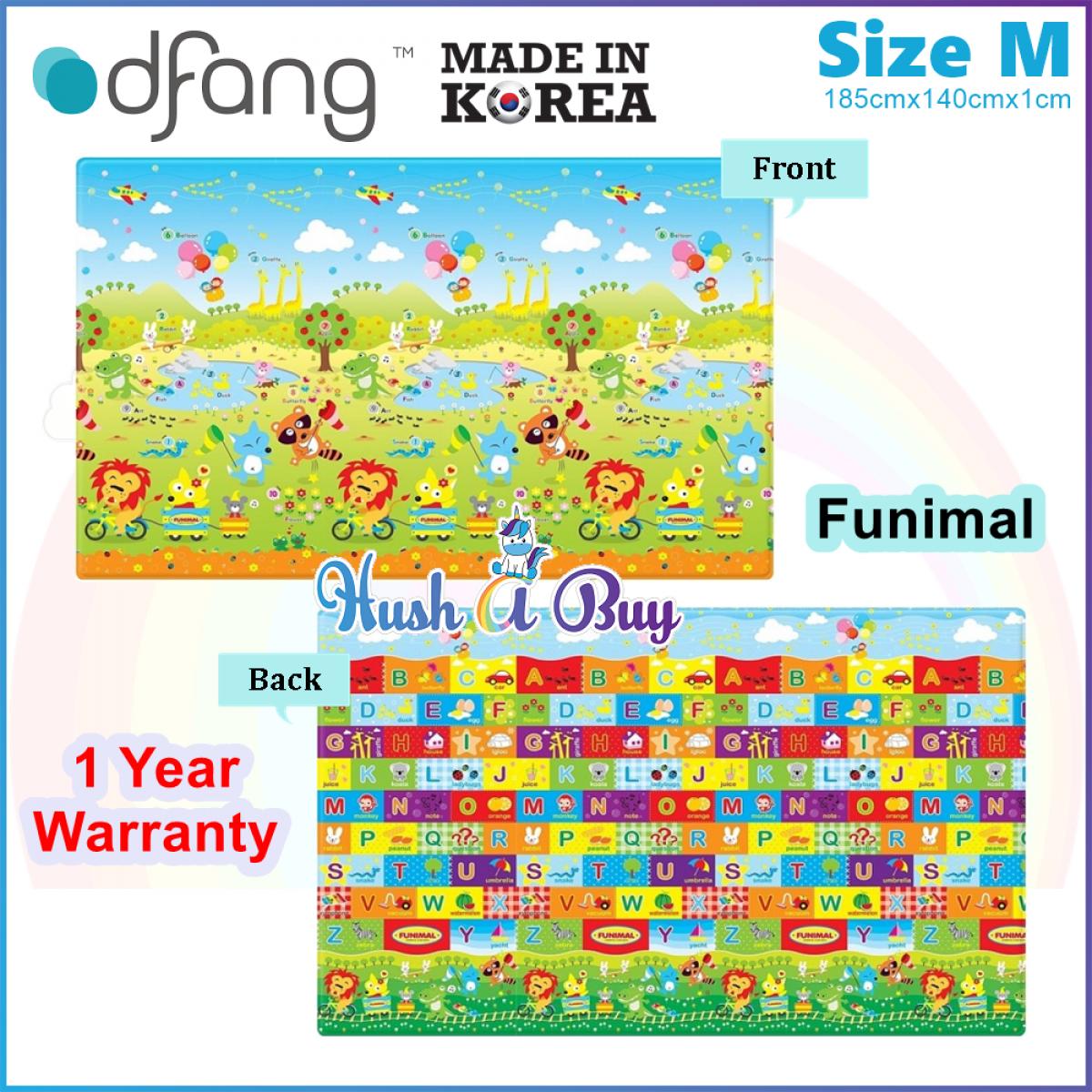Dfang Double Film Premium PVC Mat (185x140x1.0cm) Size M - Made in Korea -1 Year Warranty