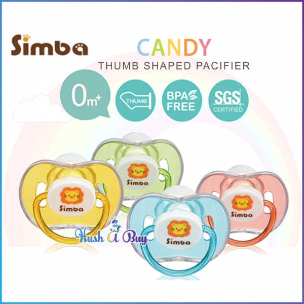 Simba Candy Thumb Shaped Pacifier 0+M (4 colors available)