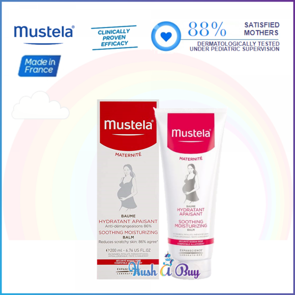 Mustela Soothing Moisturizing Balm for Mothers - 200ml (Reduce Dryness) Expiry: 02/2020