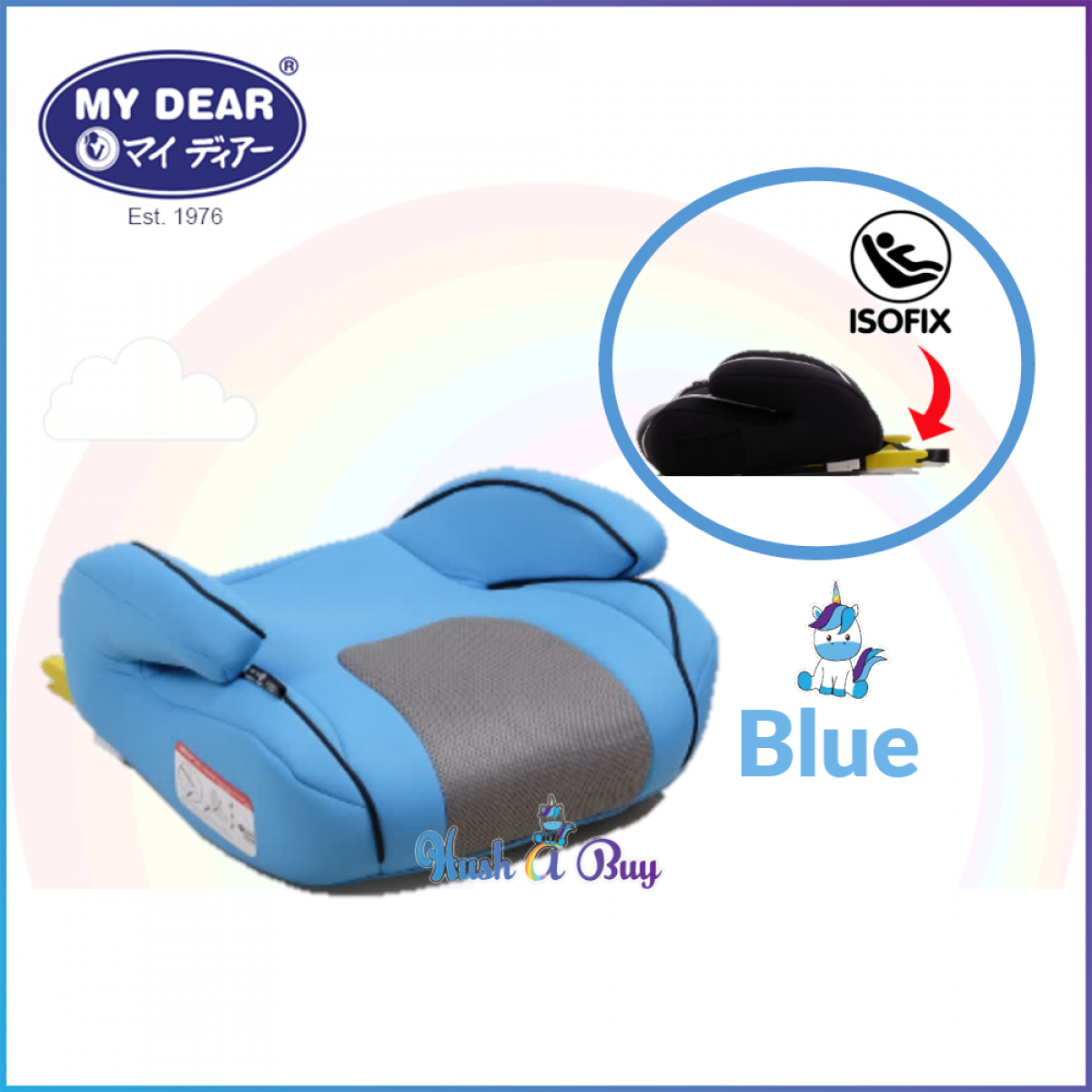My Dear Booster Car Seat with ISOFIX
