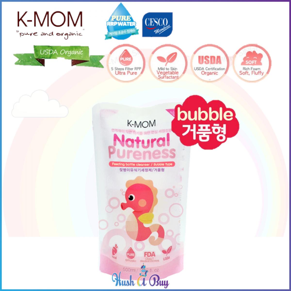 K-MOM USDA Organic Baby Bottle Cleanser Pack (Bubble Type) 500ml - Refill