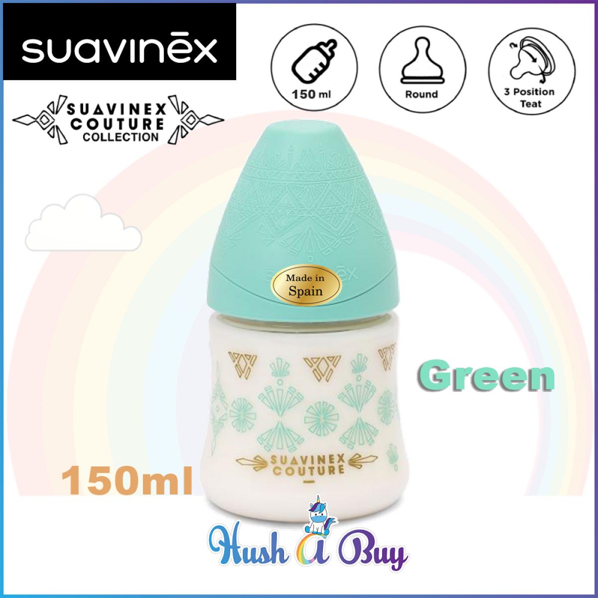 Suavinex Coutour PA Feeding Bottle 0.6M with Slow Flow Round Silicone Teat -150ml