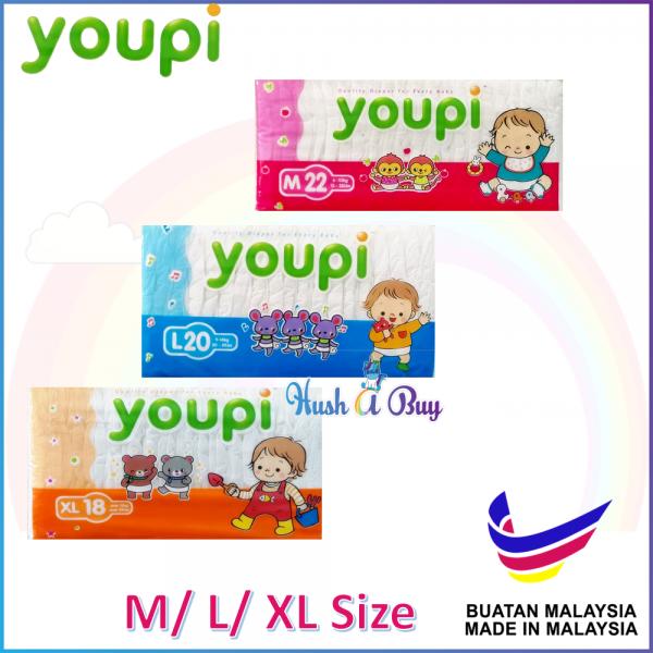 Youpi Disposable Tape Diaper (M/ L/ XL)